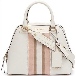 Calvin Klein Clara Stucco Leather satchel